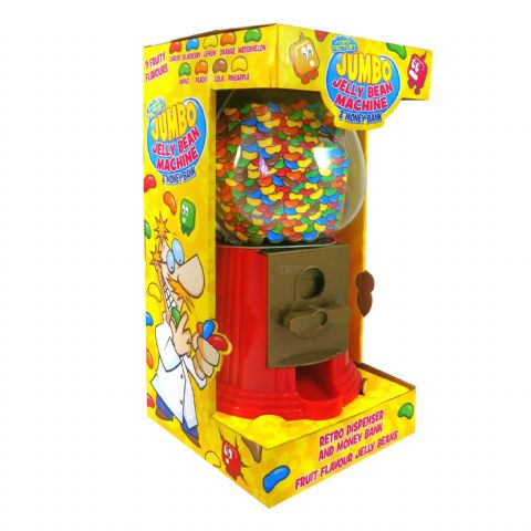 Jumbo Jelly Bean Machine & Money Bank - Fun Candy Sweets Retro Dispenser